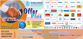 Job Fair Offer Plus 2012 at Nehru Group
