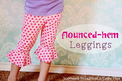 flounce leggings, free pattern