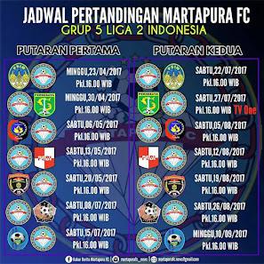 JADWAL LIGA 2 MARTAPURA FC