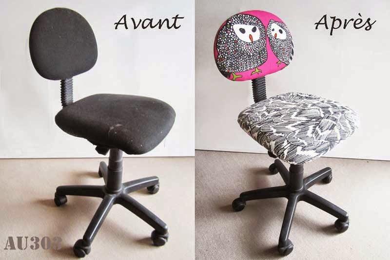 Relooker une chaise de bureau enfant pour 5 AU 303 HOME DECO