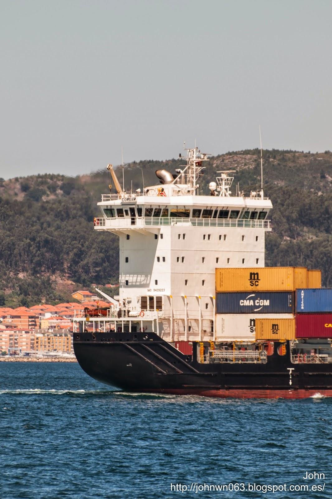 fotos de barcos, imagenes de barcos, corsair, containero, container ship, vigo