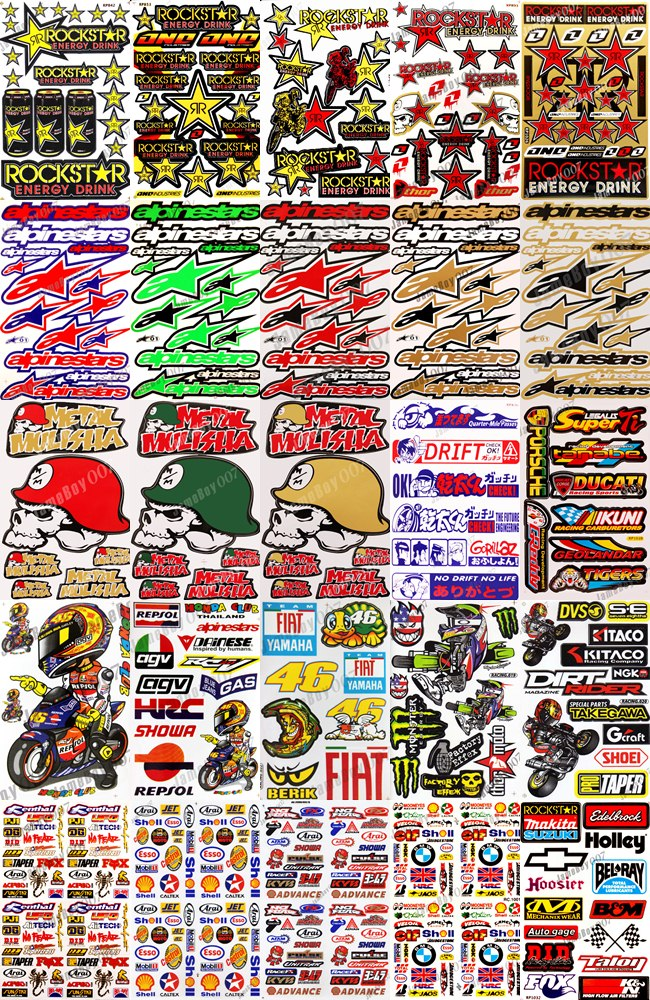 Wholesale price wholesale cost of moto racing stickers
