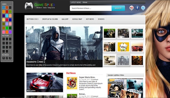 Game Speed Wp Theme to Blogger Template - UONG JOWO