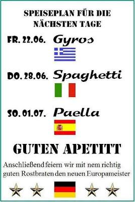 Wir essen Gyros Spaghetti und Paella zur EM