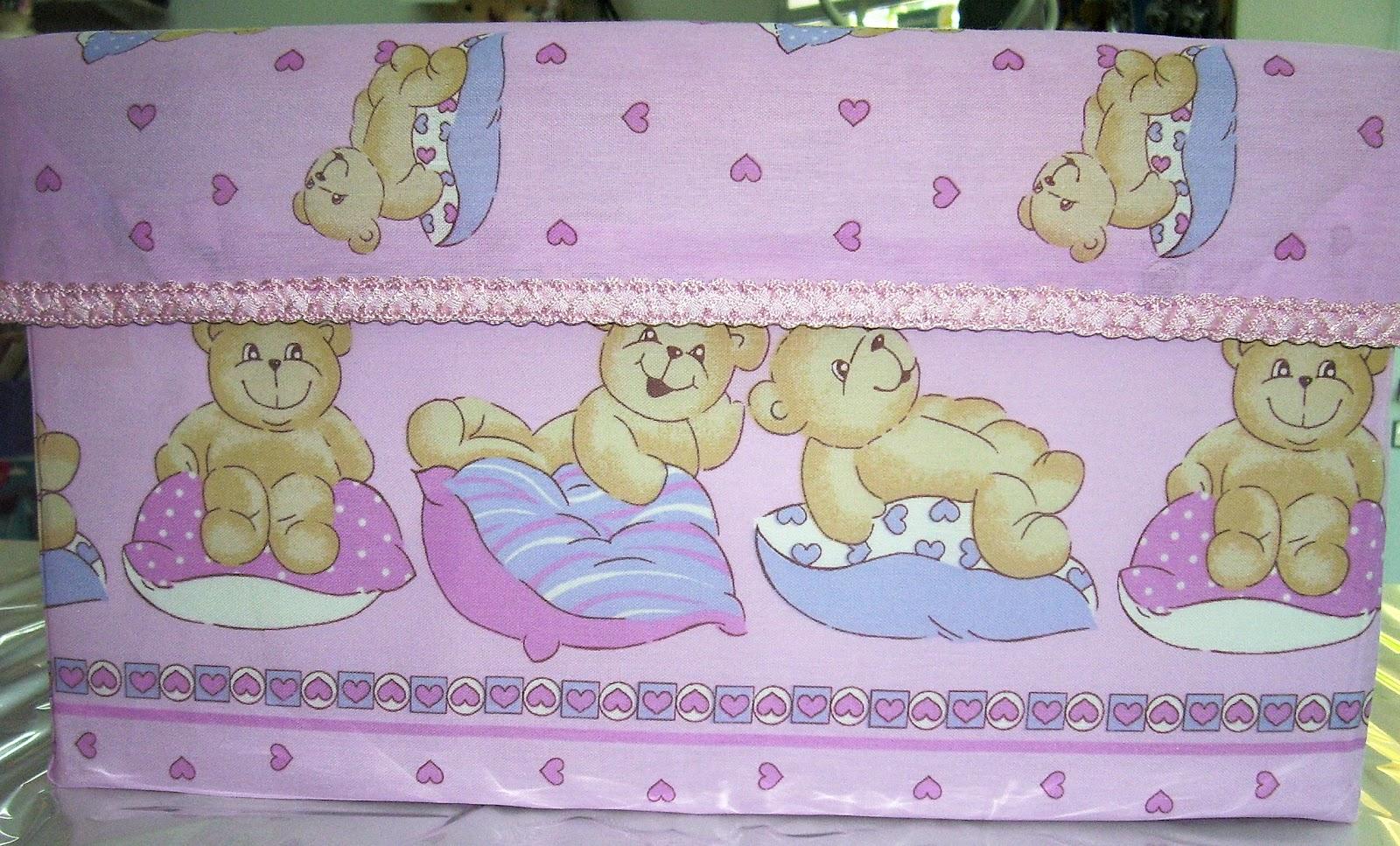 Caja forrada en tela para bebe recrear manualidades arte - Forrar cajas de carton con telas ...