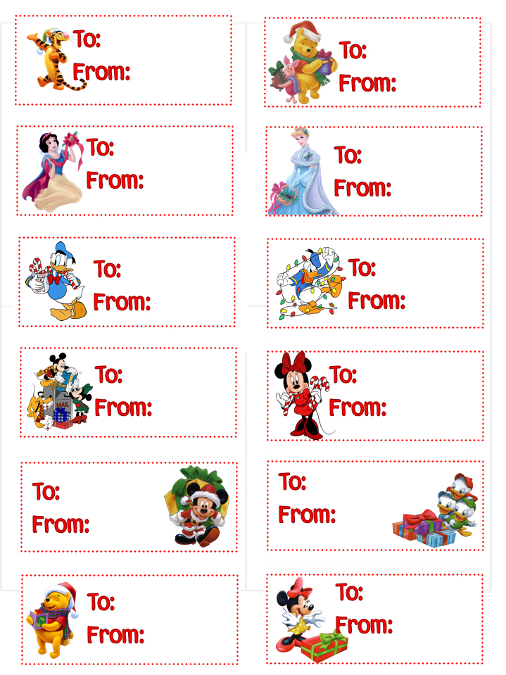 Universal image with printable christmas tags