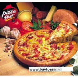 Groupon : Buy Pizza Hut Medium Pizza & Garlic Bread & Soft Drinks for 2 Rs.245 only (BuyToEarn) exclusive