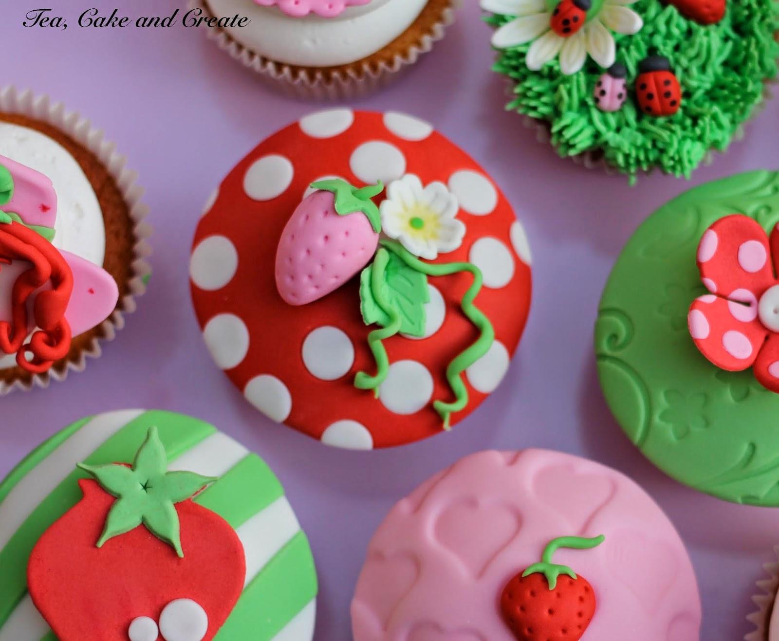 Tea Cake & Create Strawberry Shortcake Cupcake Toppers
