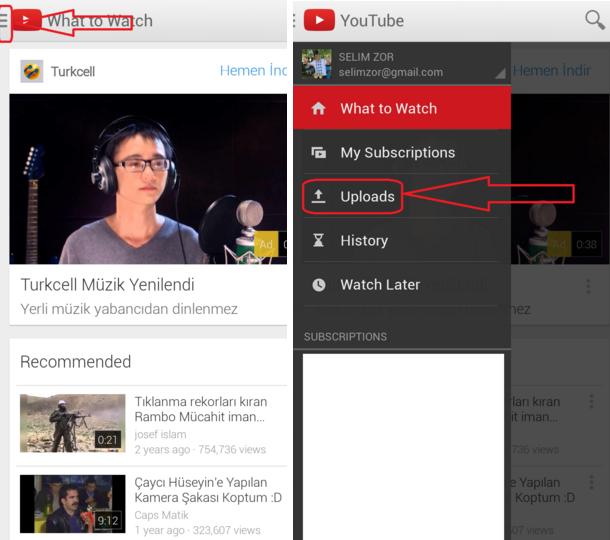 मोबाइल से यू ट्यूब पर विडियो कैसे अपलोड करें