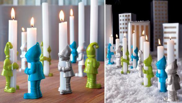 2 3 head 15 creative tealights and unusual candle holder for Creative candle holders