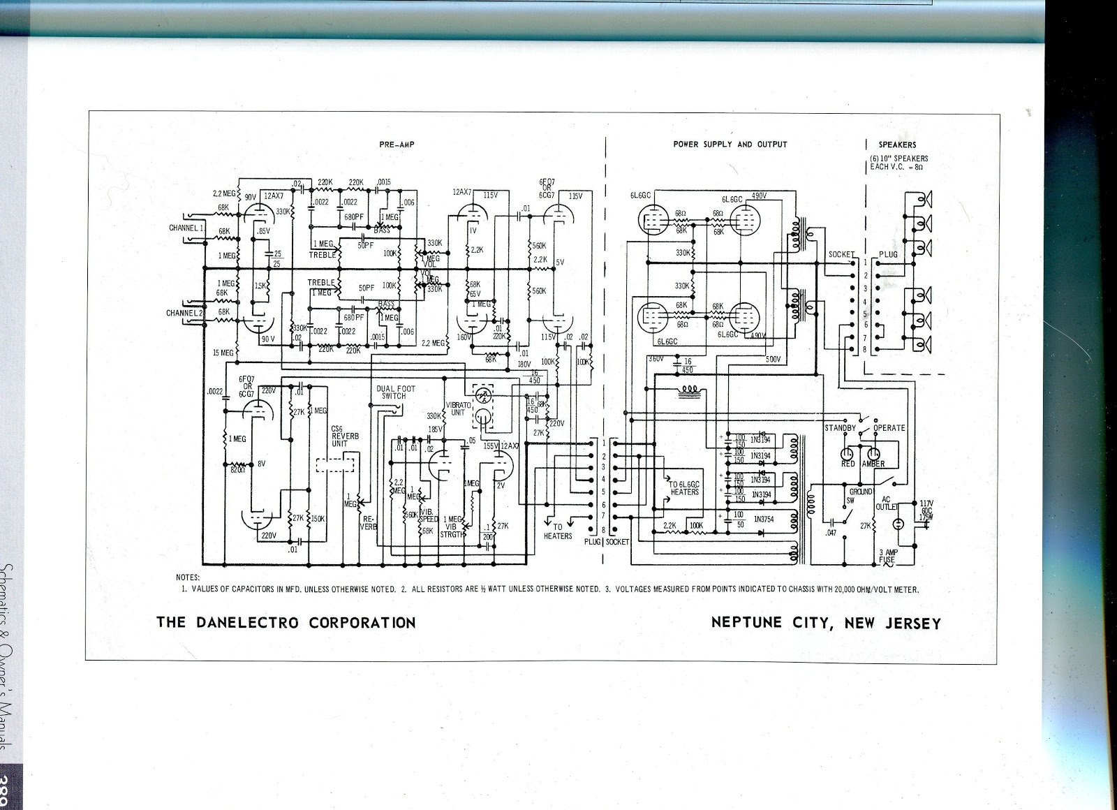 Judybox Revival Danelectro DS100 Schematic