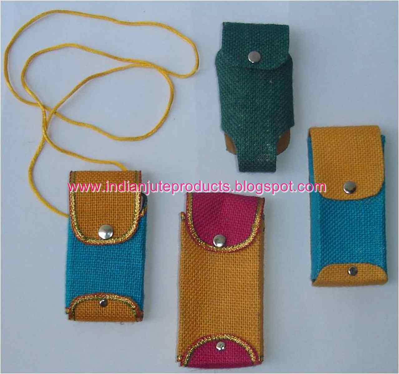 Easy To Make Jute HandCrafted Mobile Pouch Cell Phone Sling Bags