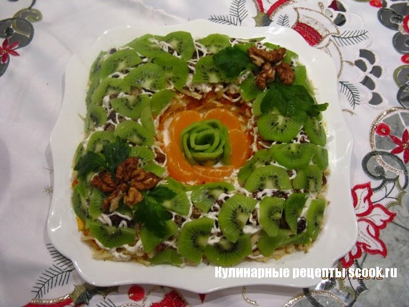 Малахитовый салат с киви