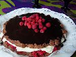 Kesäinen kaura-suklaakakku