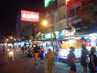 Ben Thanh night market. Ho Chi Minh. Vietnam