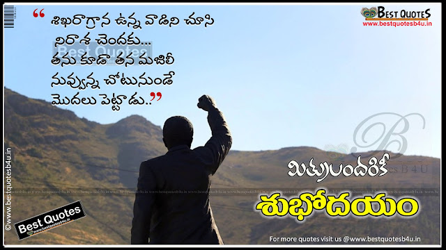 Best Telugu Good morning Quotes with nice wallpapers