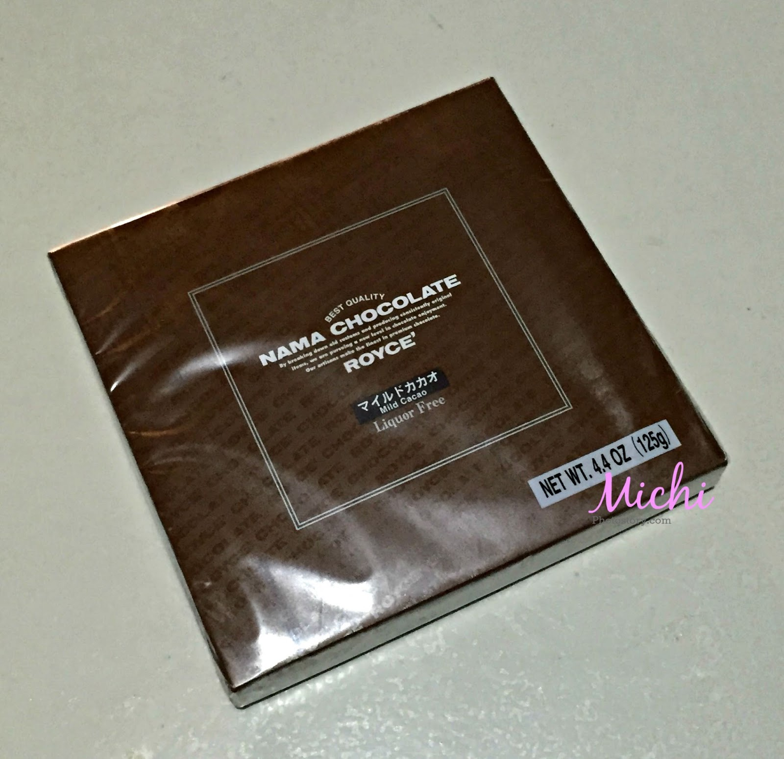 Michi Photostory: Royce Nama Chocolate