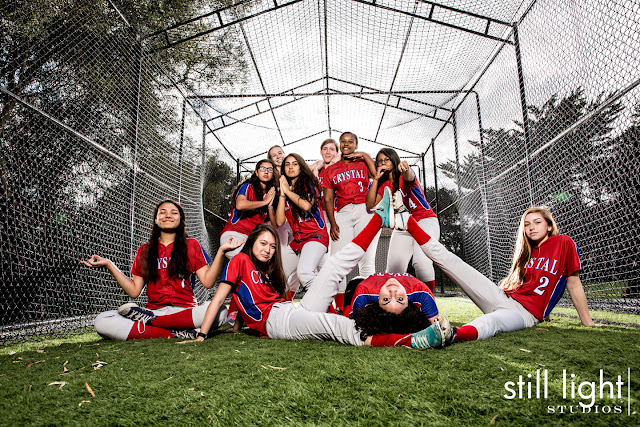 softball team photo still light studios crystal springs uplands school hillsborough burlingame