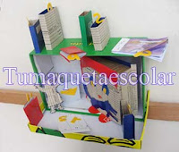 cuento hecho en cajas y papeles se segundo uso