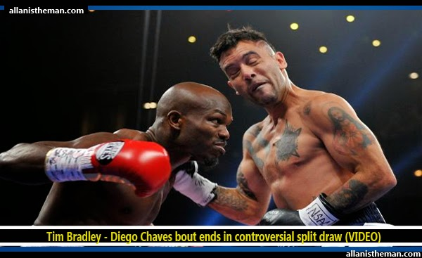 Tim Bradley - Diego Chaves bout ends in controversial split draw (VIDEO)