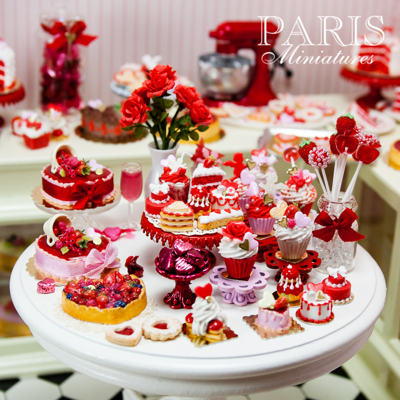 Miniature food - Valentines miniatures