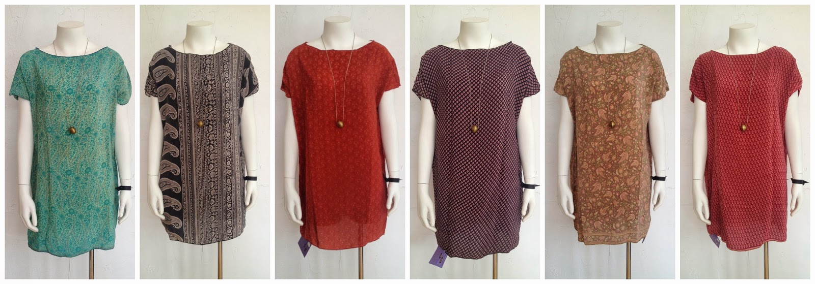 New Kaia Tunic/Dress by Indie Ella ($64) and necklace by MIN (in store only) at Folly