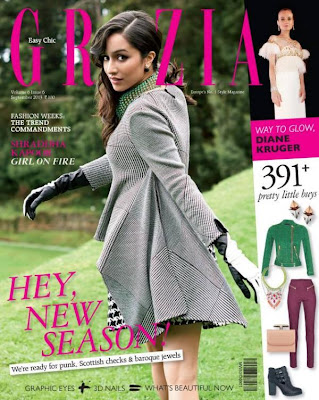 Aashique 2 Girl Shraddha Kapoor on the covers of 'Grazia'
