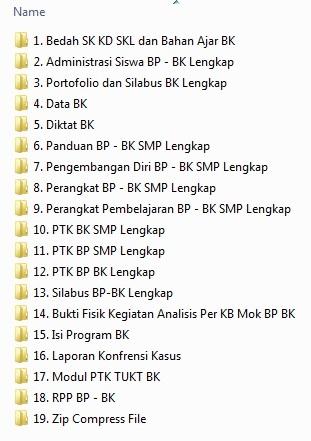 Perangkat BK Kelas 7 , 8 , 9 Lengkap
