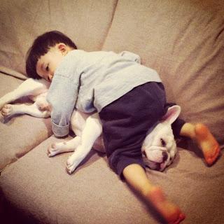 Tasuku and his dog Muu