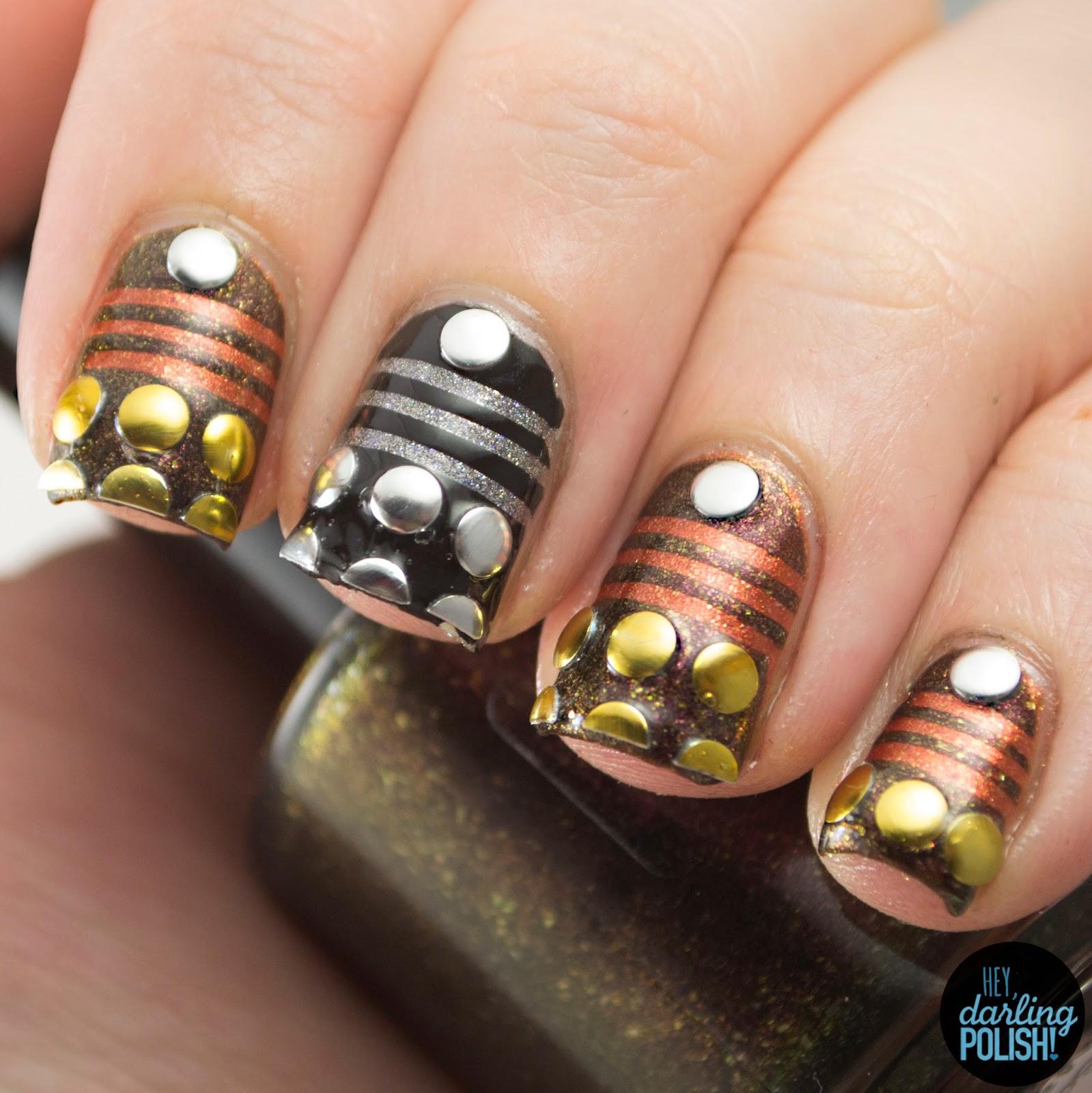nails, nail polish, nail art, polish, pahlish, doctor who, daleks, sci fi, hey darling polish, nail art a go go