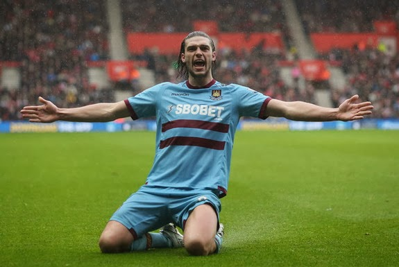 Andy Carroll scored 7 goals in 24 league appearances while on loan at West Ham last season