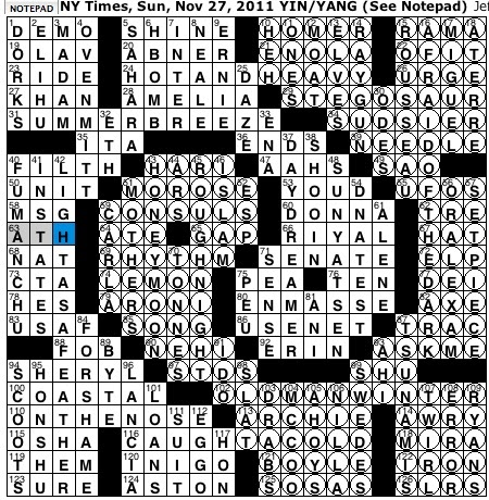 Rex Parker Does The Nyt Crossword Puzzle Kuomintang Co Founder Sun 11 27 11 Italian