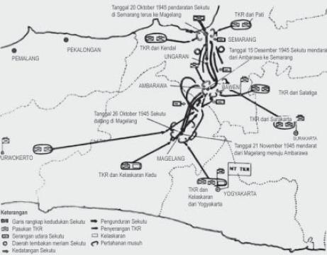 Pertempuran Di Medan, Ambarawa dan Peristiwa Merah Putih Di Manado