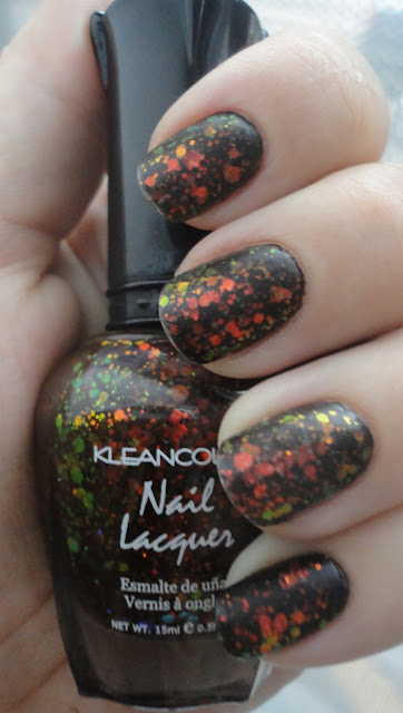 kleancolor chunky black holo swatches and review