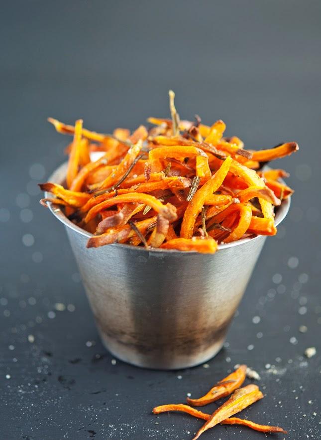 Hand Cut Crispy Baked Sweet Potato Shoestring Fries