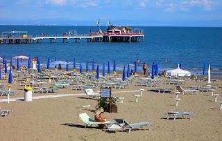 pláže Lignano časť Pineta