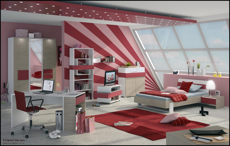 Deco chambre interieur: adolescent idées de design chambre