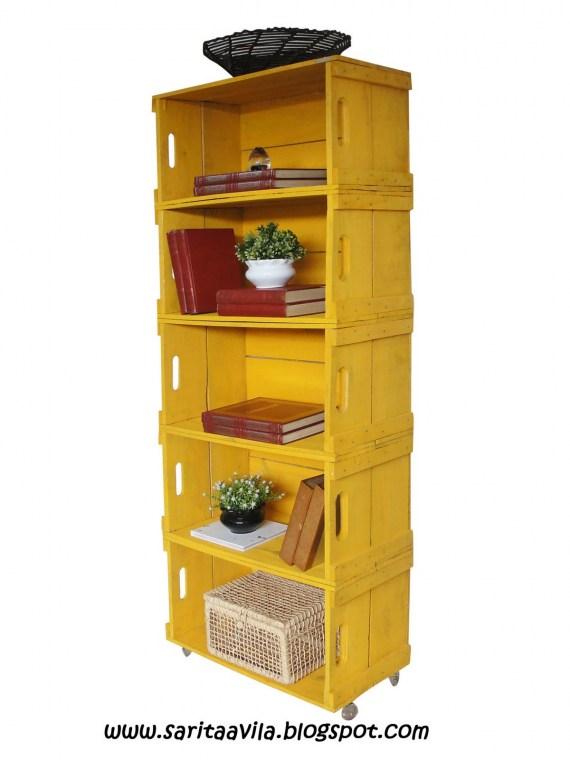 Blog de decorar caixotes de feira balc o estante e rack - Estante para microondas ...