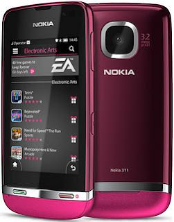 Nokia Asha 311 ungu pink