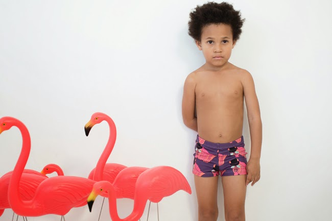 Funky swimpants with zebra by Gardner and the Gang SS15