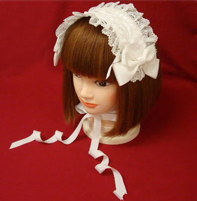 white lolita head gear