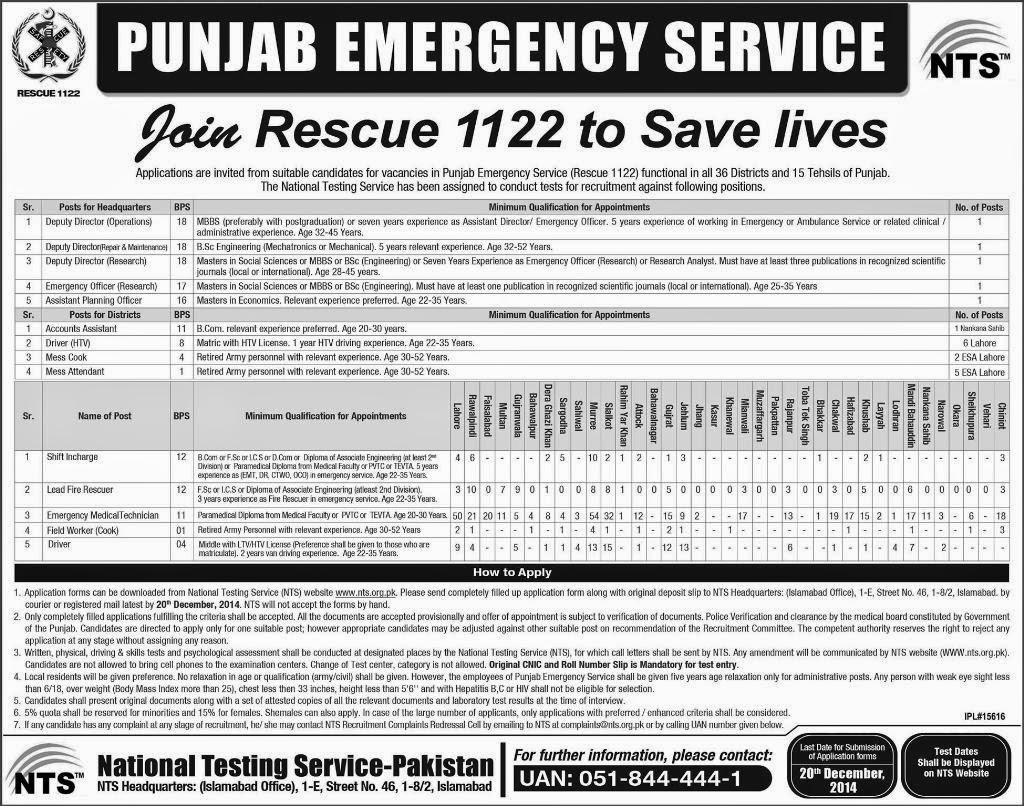 Rescue 1122 Job December 2014