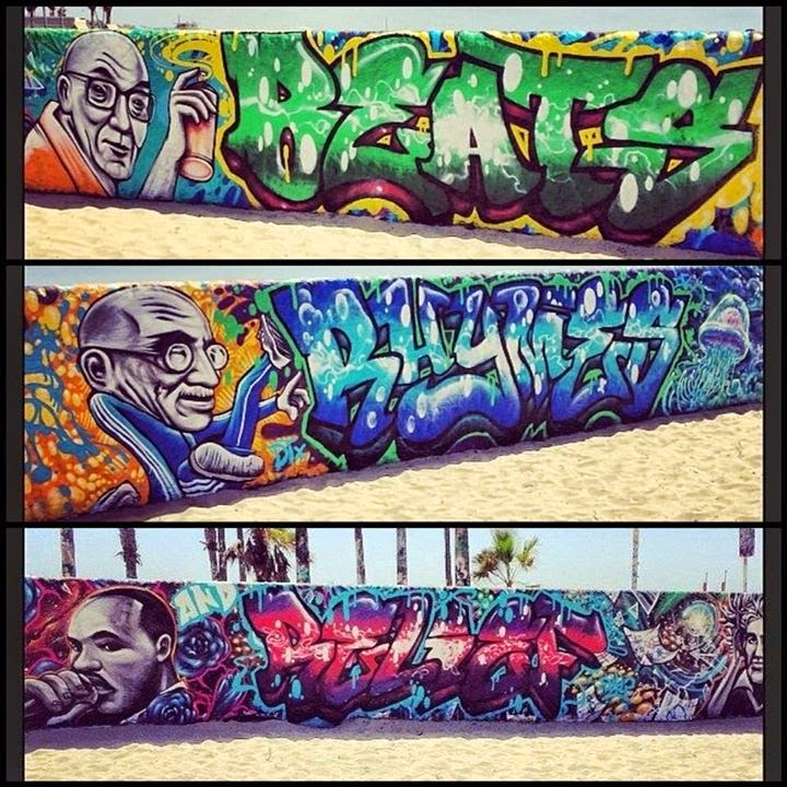 Awesome work representing Beats, Rhymes & Relief at Venice Beach, LA - What Is Hip Hop