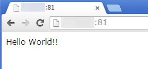 PC のブラウザ(Chrome)から、 LinkStation の Web サーバへアクセスしてみたところ