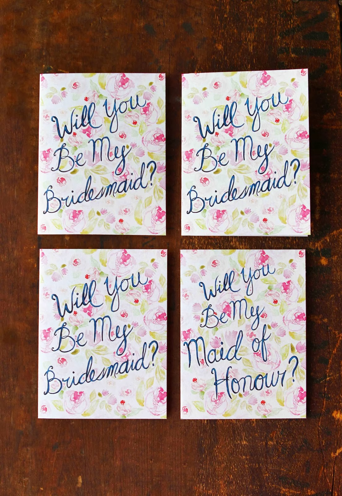 will you be my bridesmaid card set