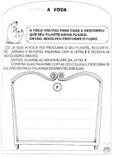Foca - Atividades de alfabetização e atividades para imprimir