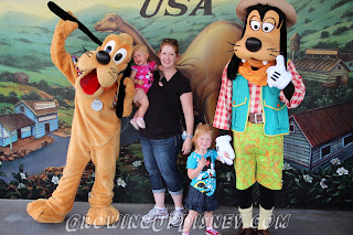 Pluto and Goofy at Disney's Animal Kingdom