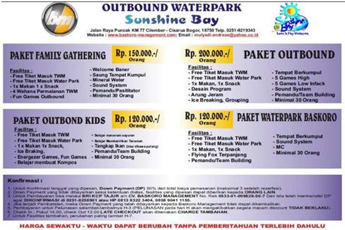 Harga Paket di Taman Wisata Waterpark Bogor