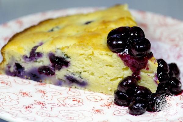 Ricotta cake met blueberry's