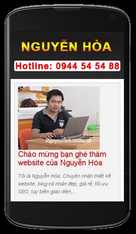 Giao diện website trên mobile